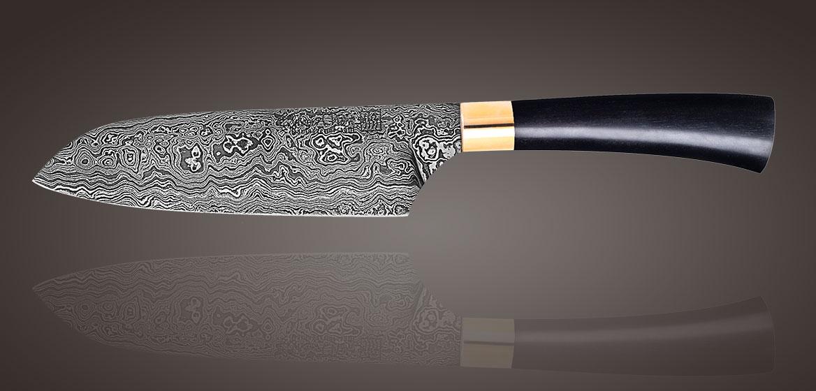 Messer-Werk - Kochmesser Standard Damast Santoku